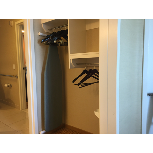 Adapted Hotel Rooms Marriot closet