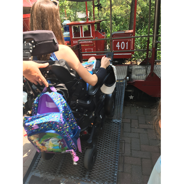 Cincinnati Zoo train wheelchair access 2