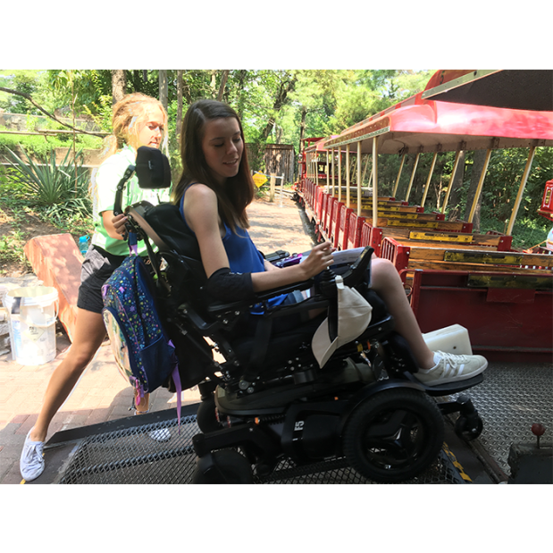 Cincinnati Zoo train wheelchair access 3